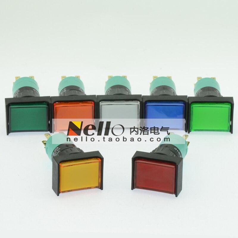 [SA]EMA 16mm illuminated pushbutton switch self-resetting 01P-RM40.Q1P rectangular LED 1C / O--10pcs/lot