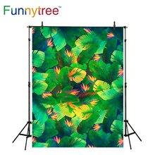 Funnytree photocall de fundo photo studio fotografia pano de fundo pintura folhas tropicais coloridos impresso photobooth