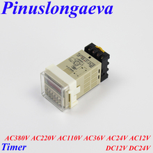 цена на Pinuslongaeva Factory outlet High quality LED Digital display Timer Cycle time relay AC380V 220V 110V 36V 24V 12V DC12V 24V