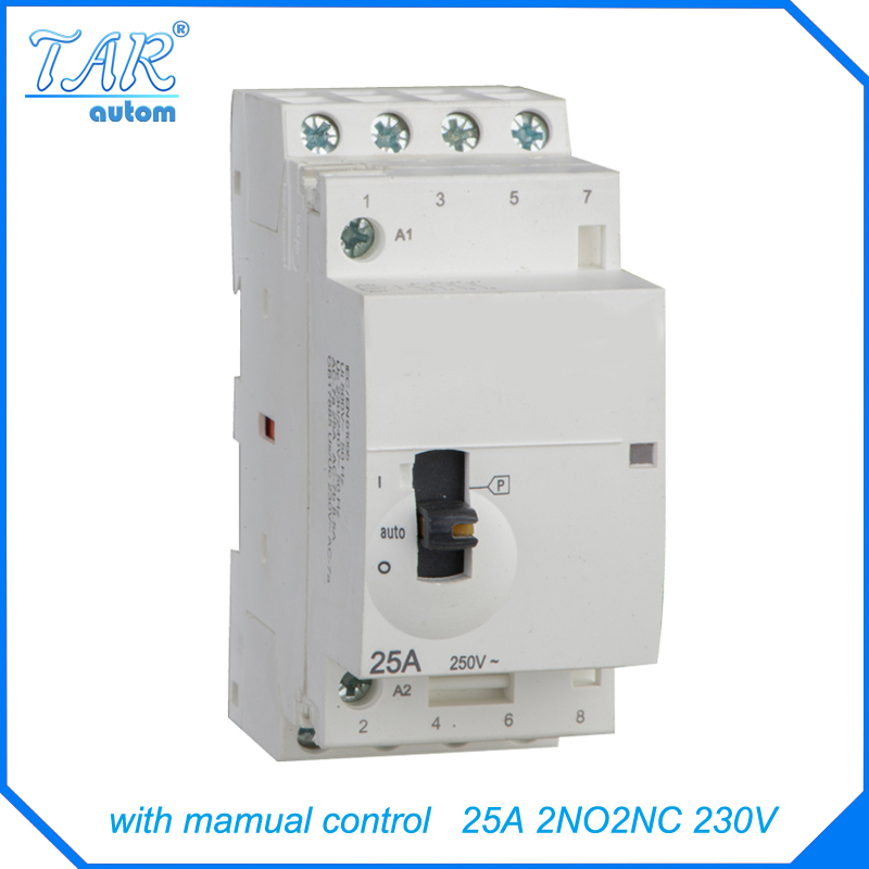 Four pole 25A 2NO 2NC home new energy charging pile small low inductance CT AC household contactor 220V adora22 2nc 024ru