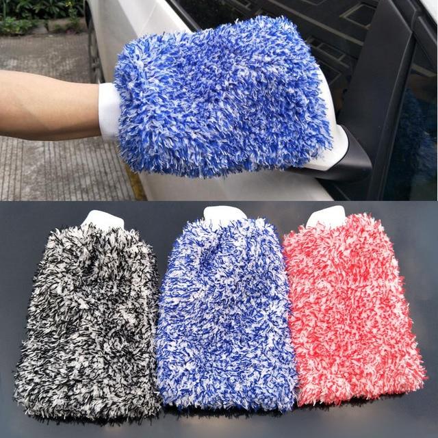 Guante de absorción suave de alta densidad de limpieza de coches Ultra suave fácil de secar Auto detalles de microfibra Madness Wash Mitt paño toalla