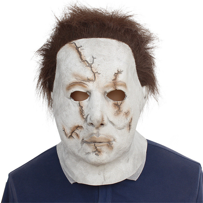 Takerlama 2018 Halloween Scary Michael Myers Mask Latex for Party Trick Cosplay Latex Party Face Mask Scary Film Mask
