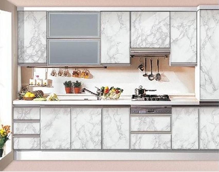 61cm*5m Imitation marble waterproof wallpaper marble wallpaper wardrobe kitchen cabinet ...