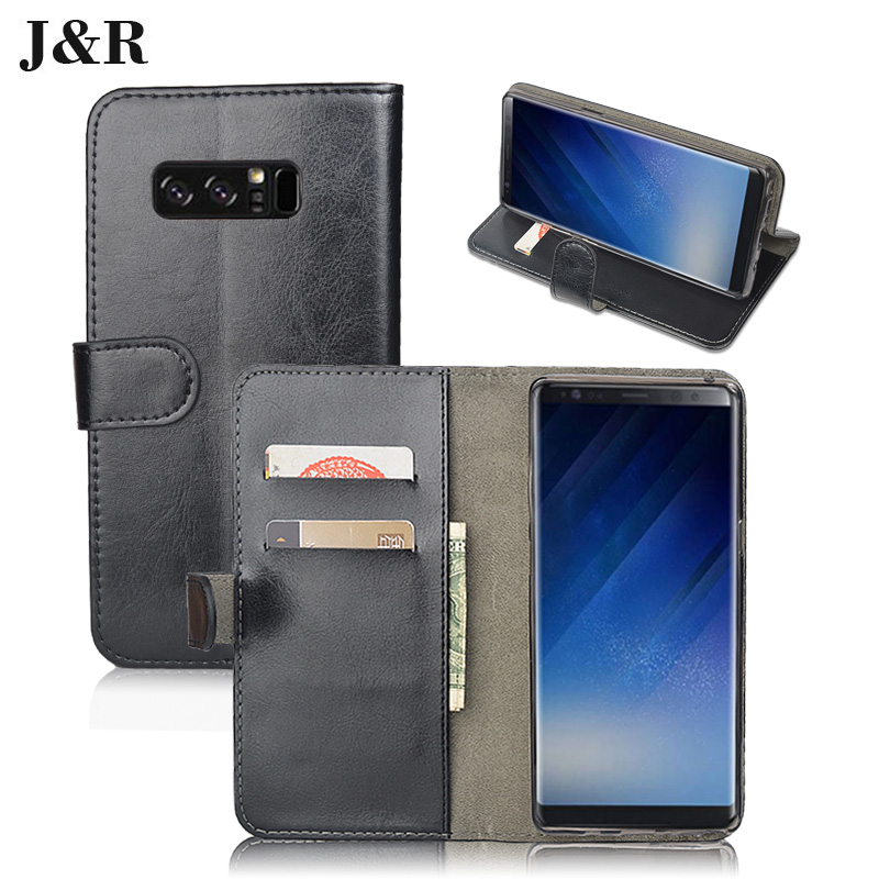 check out 67d88 28339 For Samsung Galaxy Note 8 Case Wallet Flip Leather Back Cover For Samsung  Galaxy Note 8 Note8 Phone Cases With Card Slots-in Wallet Cases from ...