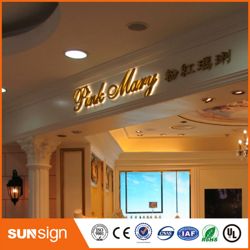 Wholesale Outdoor Waterproof Anti Rust Advertising Halo Lit LED Letter Signs