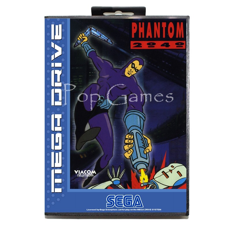 Phantom 2040 with Box for 16 bit Sega MD Game Card for Mega Drive for Genesis Video Console