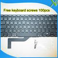"Brand New For MacBook Pro Retina 15.4"" A1398 UK keyboard+100pcs keyboard screws 2013-2015 Years"