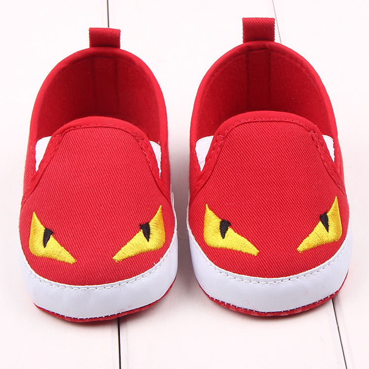 HONGTEYA Cartoon Animation monster non-slip baby shoes soft bottom Cotton Fabric first walkers infant baby shoes baby moccasins