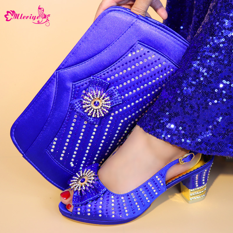 5683-1 African Shoes And Bag Matching Set With Crystal Hot Selling Women Italian Shoes And Bag Set For women Wedding capputine african shoes and bag matching set with crystal hot selling women italian shoes and bag set for wedding dress bl735c
