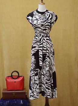 2019 new arrival animal leopard design pink black dress and cute summer women dress leopad black dress for girls