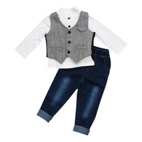 Newborn Baby Girl Boys Clothes 2 Piece Set Clothing Suit Long Sleeve Ant Pattern T Shirt