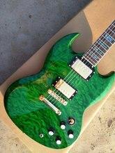 Горячая Распродажа высококачественные гитарные с зеленый стеганый карта Топ, ушка декор, доступны все цвета, фото Бесплатная доставка