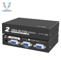 EGRINCY 1 In 2 Out VGA Switch Splitter 15Pin 1080P 180MHz Metal Shell VGA Video Adapter