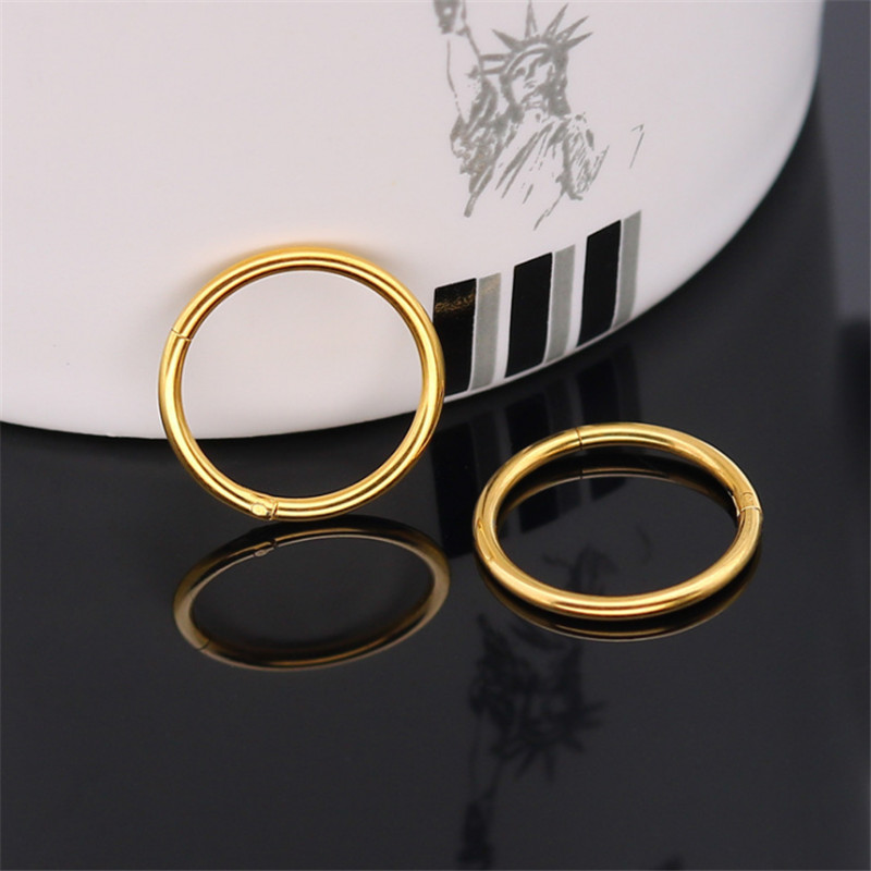 New Hot Rose Gold Silver Color Stud Earrings For Men Exaggerated Stainless Steel Punk Round Stud Earrings Fashion Jewelry