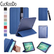 Premium PU Leather Smart Shell Case for Samsung Galaxy Tab S3 9.7 inch SM-T820 T825 Android Tablet with Stylus Holder
