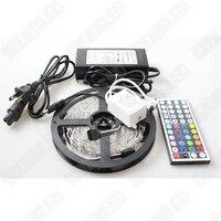 RGB LED Strip 5050 SMD led ribbon 5M 300 Leds 60 Leds/m + 44 Keys IR Remote Controller + 12V 6A Power Adapter,Free Shipping