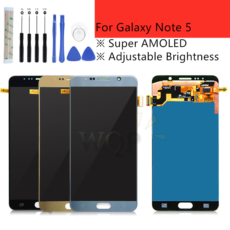 For SAMSUNG Galaxy Note 5 LCD Display Touch Screen Panel Digitizer Note5 N920A N9200 SM N920 N920C Replacement Repair Parts-in Mobile Phone LCD Screens from Cellphones & Telecommunications    1