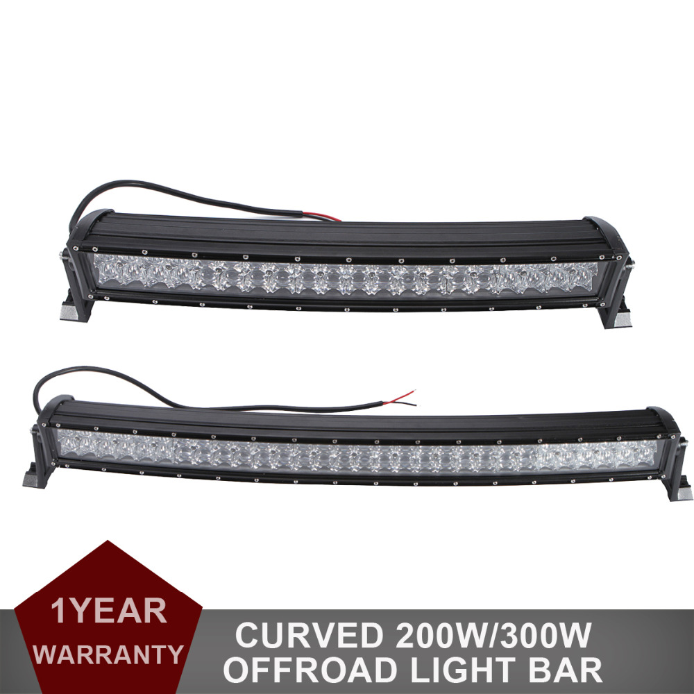 22 200w 33 300w 5D Curved LED work font b Light b font Bar Combo beam