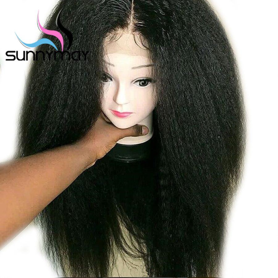 Alice 13x6 Lace Front Human Hair Wigs With Baby Hair Remy Kinky Straight Wigs Pre Plucked Brazilian Lace Front Wigs Glueless