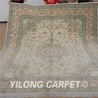 Yilong 8'x10' Vantage oriental carpet beige wool carpet exquisite wool turkish handmade rugs (1306)