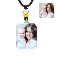 Personalized Custom Crystal Photo Pendant Necklace Print Baby Children Photos Necklaces Child Kids Picture Jewelry Couple Gifts
