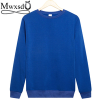 Mwxsd Men S Casual Hoodies And Sweatshirts O Neck Men Solid Pullover Hoodies Brand Men Clothing
