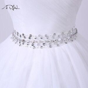 Image 5 - ADLN 2020 Ballkleid Hochzeit Kleid Robe de Mariee Elegante Echt Fotos Schatz Tulle Perlen Korsett Günstige Brautkleid Plus größe