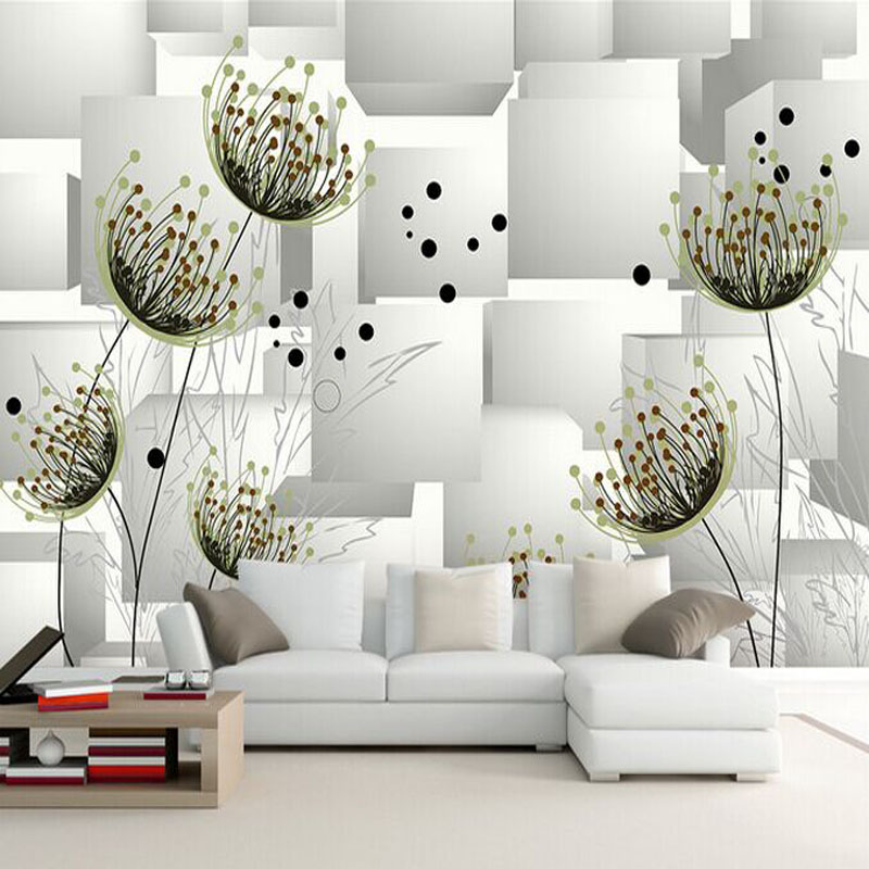 Abstract Drawing Large Mural Floral Room 3D Stereo TV Background Wallpaper Simple Modern Bedroom In Wallpapers From Home Improvement On
