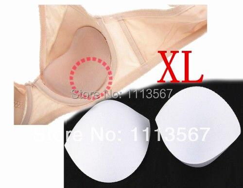 20setové bílé šití v podprsenkových šálcích Měkké pěnové podložky podprsenky XL pro vložky Bikini Vložte WB14