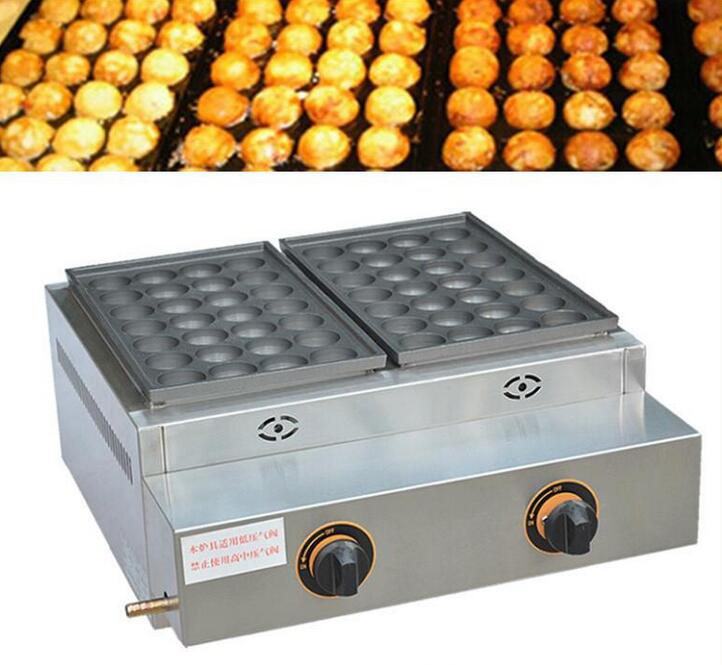 Free shipping FY-55.R Gas type 2 pan Takoyaki maker fish ball grill 220V or 110V available цена и фото