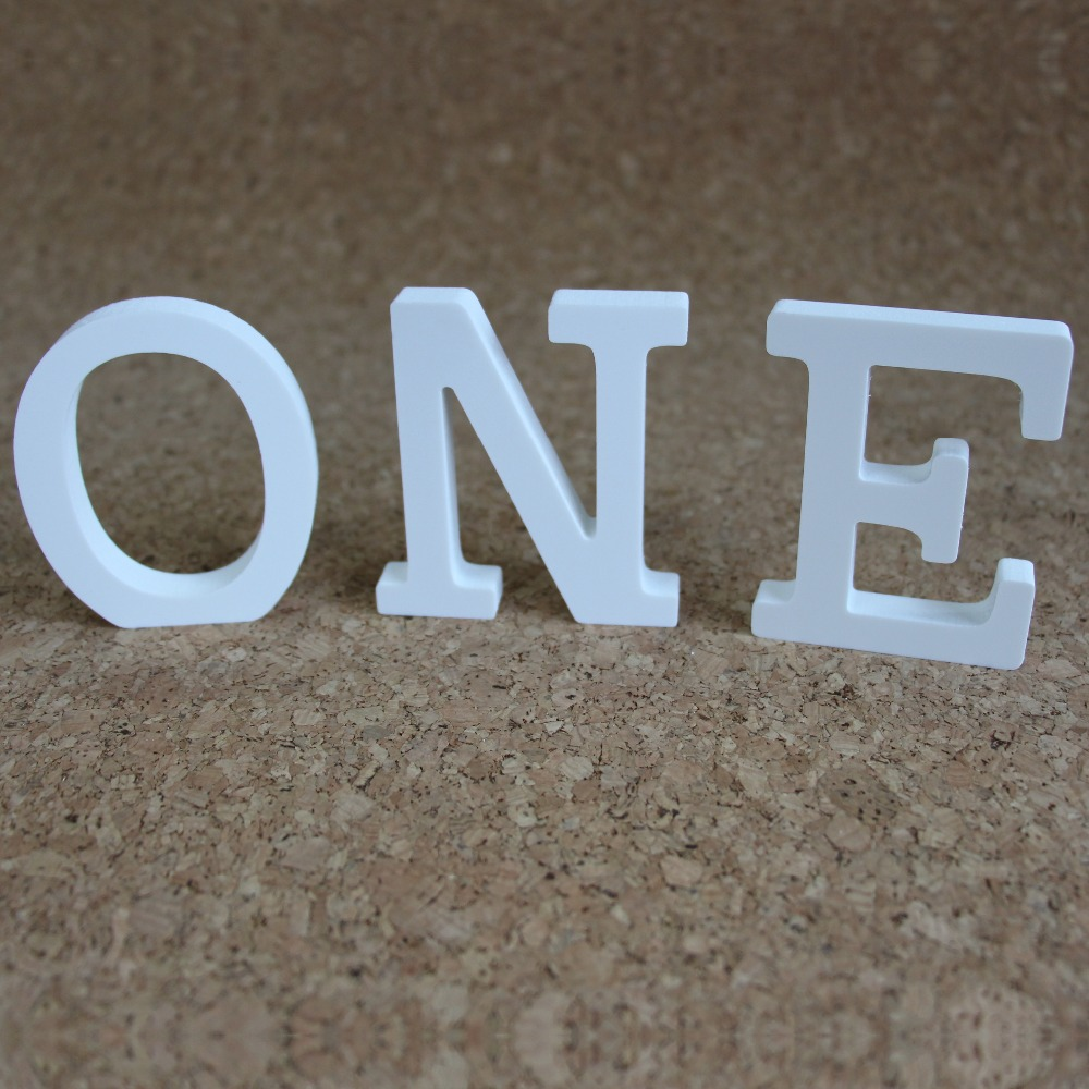 Τεχνητά ξύλινα γράμματα 10cm Τεχνητά - Διακόσμηση σπιτιού - Φωτογραφία 2