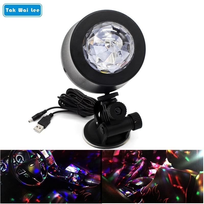 Tak Wai Lee LED-es autós DJ fényforrás zenevezérlő Strobe Flash - Autó világítás