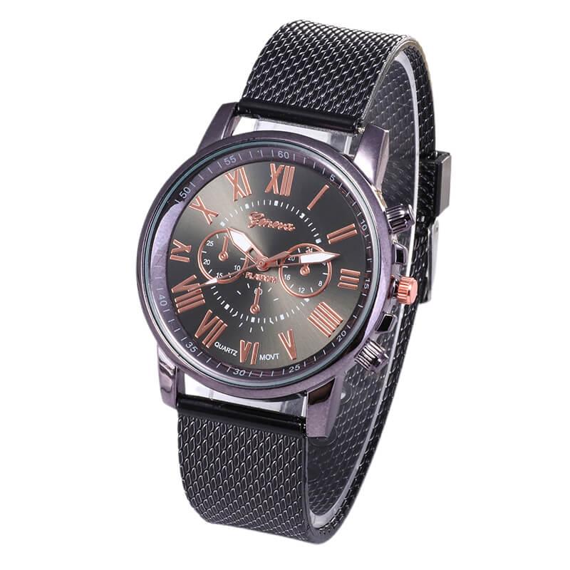 Foloy Digital Sport Men Watch Quality Fashion Geneva Roman Numerals Leather Analog Quartz Ladies Watches Bracelet Clock Gift