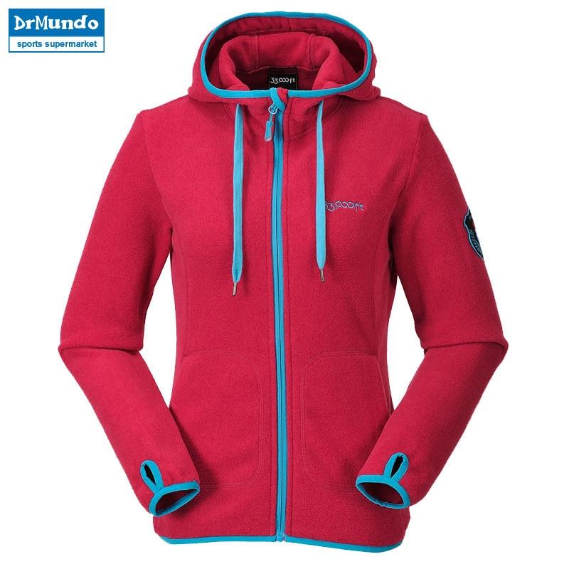 US $28.38 27% OFF|Frauen outdoor fleece wandern jacke winddicht Warme Mantel Frauen Bergsteigen jacke Dicker stricken pullover Reise Kleidung in