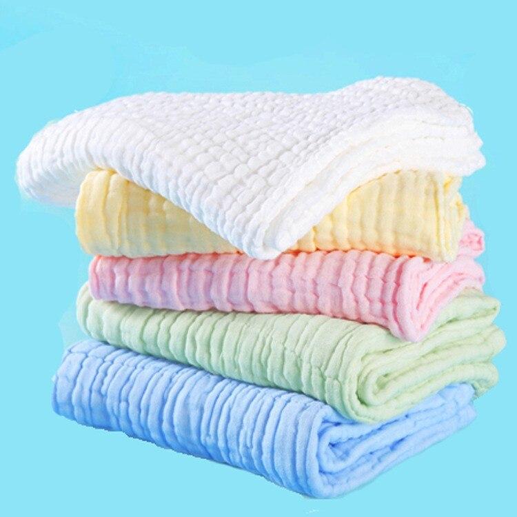 10pcs/lot 6 layers Baby Bibs Gauze Muslin Baby cloth Face Towel Baby Wipe Washcloth Handkerchiefs feeding towel baberos