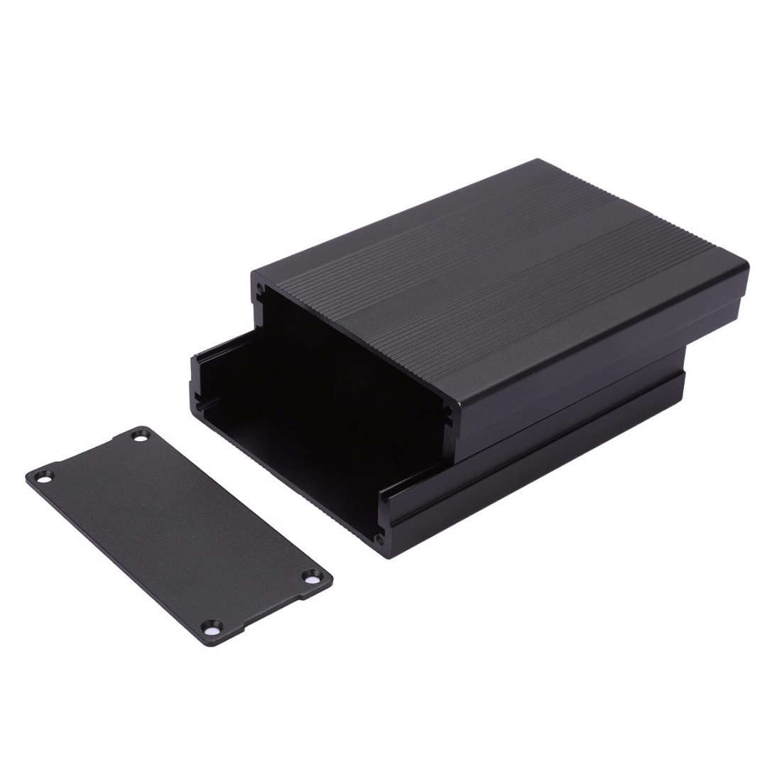 Black Enclosure Box 100x76x35mm Aluminum PCB Instrument  Electronic Project Case For Power Supply UnitsBlack Enclosure Box 100x76x35mm Aluminum PCB Instrument  Electronic Project Case For Power Supply Units