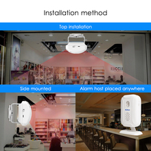 Home Security Welcome Chime Doorbell with Wireless Infrared Motion Sensor
