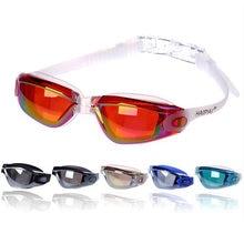 Профессиональные силиконовые гелевые очки для плавания мужчин
