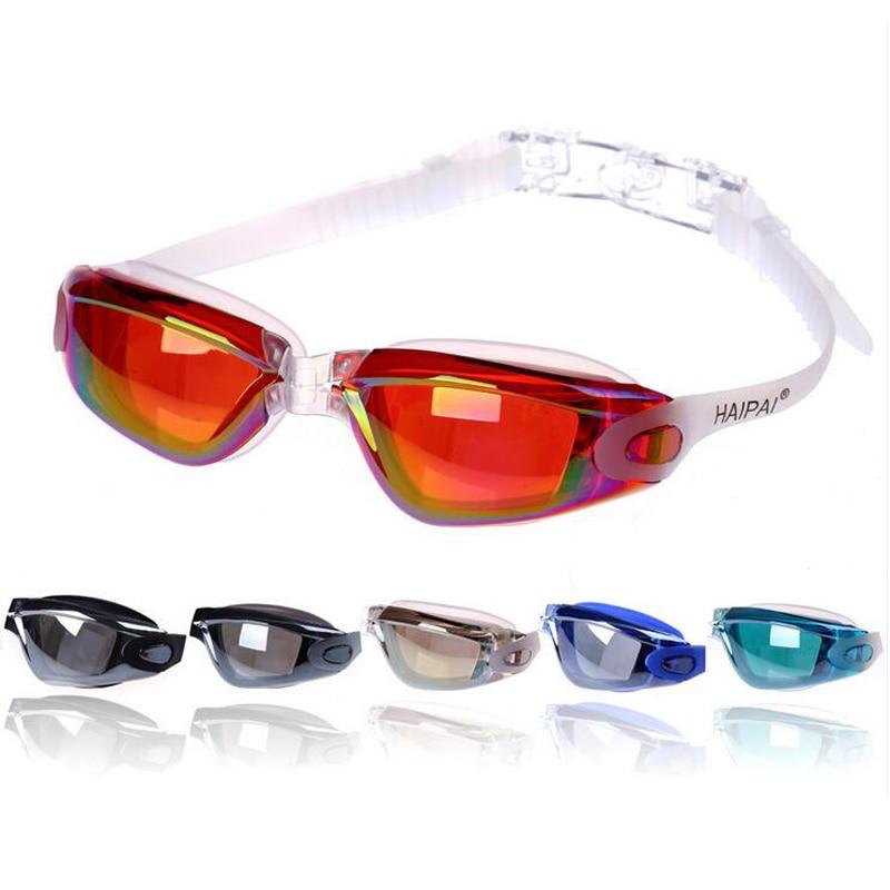 ผู้ชายผู้หญิงมืออาชีพ E Lectroplate ป้องกันหมอกป้องกันรังสียูวีซิลิโคนเจลแว่นตาว่ายน้ำกันน้ำว่ายน้ำกีฬาแว่นตาแว่นตา