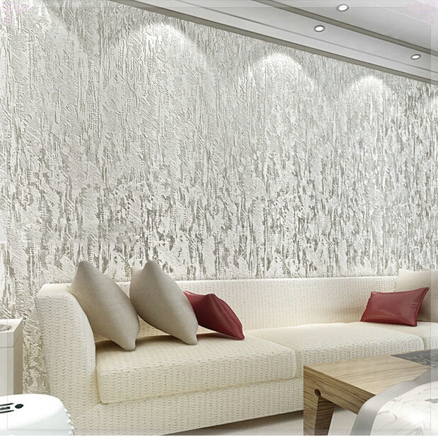 Cream White 3d Flocking Abstract Embossed Textured Modern