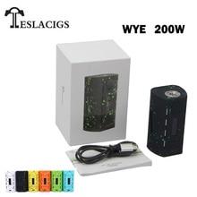 TESLACIGS Tesla WYE 200 Вт коробка мод испаритель для 510 поток Vape 18650 электронная сигарета поддержка RTA RDA RDTA
