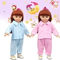Free Shipping 18 inches American Girl Doll Clothes Polka Dot Pajamas Best Toys For Girl