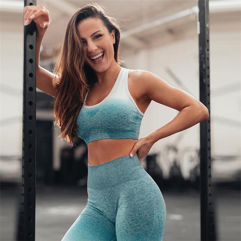 Aliexpresscom  Buy Women Fitness Yoga Set Ombre Ensemble -5315