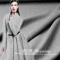 148cm width 650g per meter grey color blue line wollen goods wool materials autumn coat DIY clothes fabrics Freeshipping