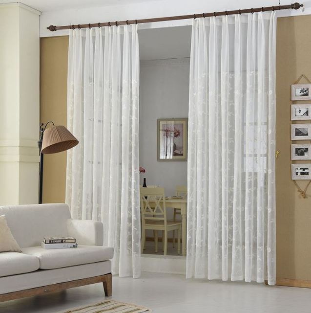 Minimalist Bedroom Decorative Quality Cotton Chiffon Curtains
