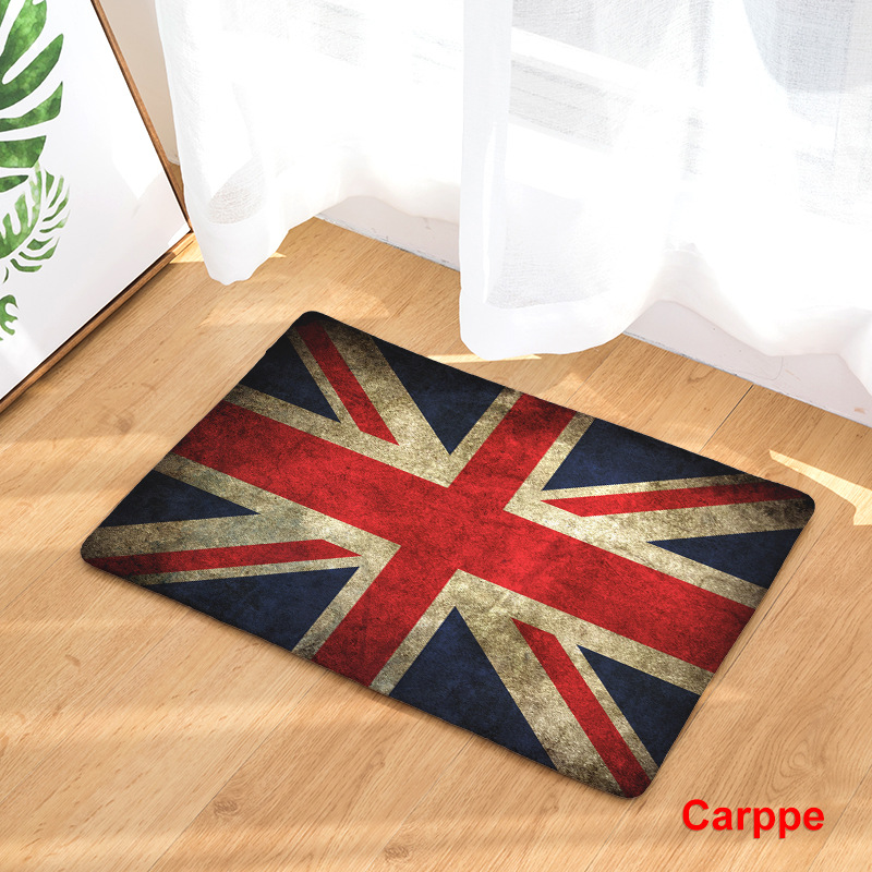 Image 4 - CAMMITEVER United States England Brazil Flag Non slip Mat Foyer Foot Carpet Rug Household Kitchen Door Pad Fashion Rugs-in Rug from Home & Garden