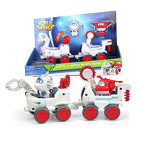 2pcs Genuine Super Wings 5 Todd&Donnie Dig Rig Transformation robot Astra&Jet Moon Rover Action Figure Jett Christmas gift Toy