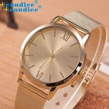 2016 New Fashion Women Design Electronic Watch Bracelet Women Ladies Gold Stainless Steel Mesh Band Wrist Watch Masculino Reloje