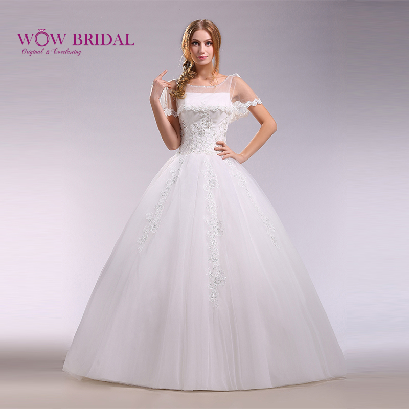 Wowbridal 2015 New Arrival Gorgeous Lace Wedding Dress