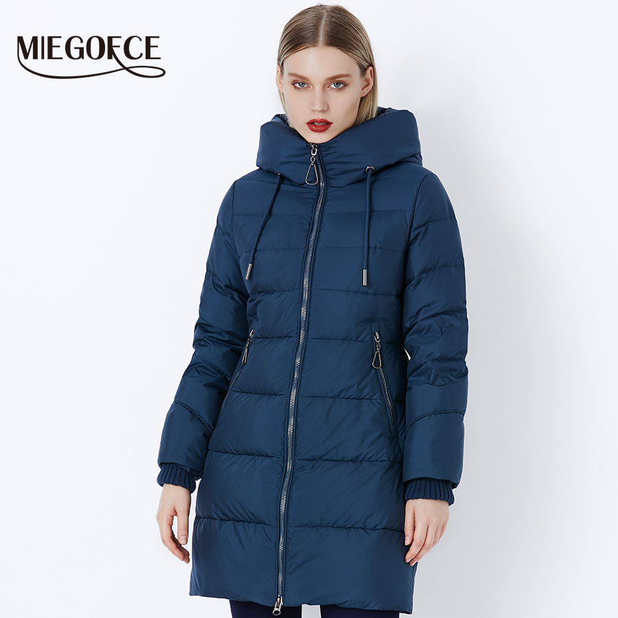 MIEGOFCE 2019 Winter Women Coat Jacket With a Hood And Winter Parks for Women High Quality
